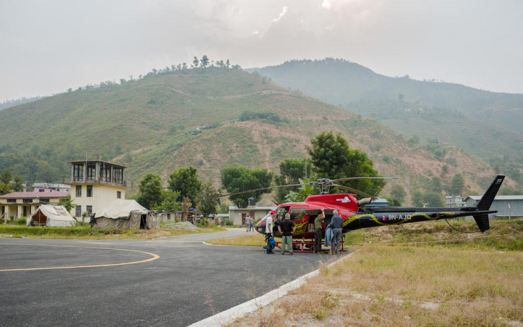 The-Himalayas-Getting-There-helicopter-Ramechhap