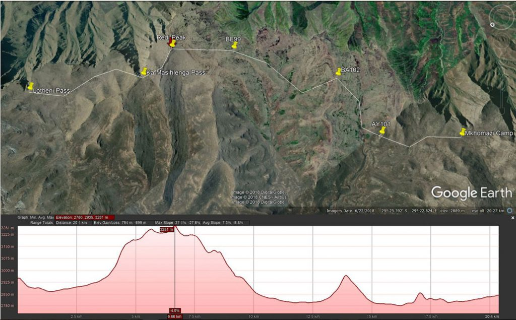 drakensberg-grand-traverse-day7-route