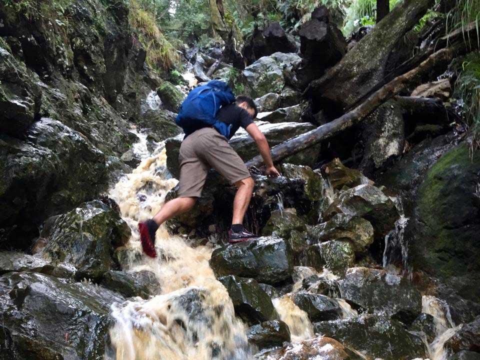Altra Lone Peak 4 hiking in water