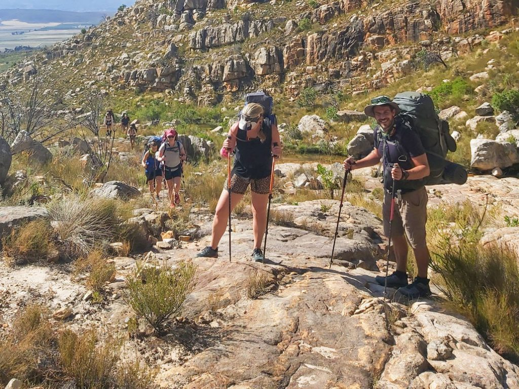 Hikers in the Kouebokkeveld mountains